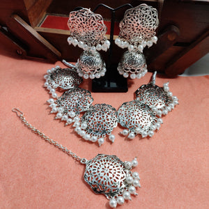 Vintage Silver Necklace Set NKC380 | Sunu's Fashions