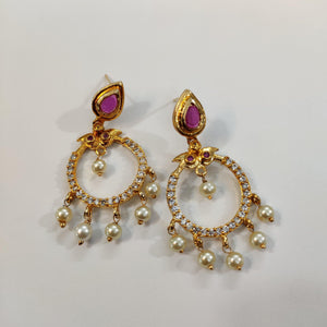 AD Stone Studded Earrings ES832 | Sunu's Fashions