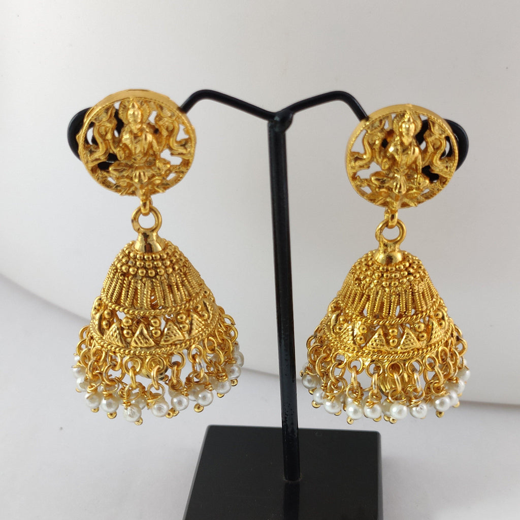 Lakshmi Round Top Traditional Jhumka ES837 | Sunu's Fashions