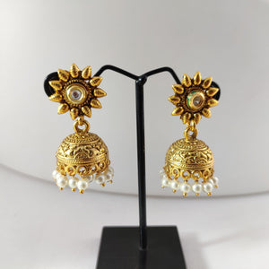 Floral Top Antique jhumkas ES840 | Sunu's Fashions