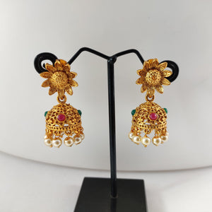 Floral Top Antique  Jhumka ES842 | Sunu's Fashions