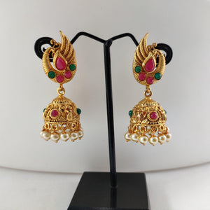 Peacock Top Antique jhumka ES844 | Sunu's Fashions