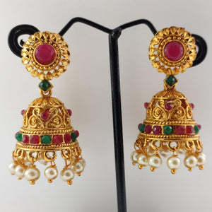 Round Top Antique Jhumka ES846 | Sunu's Fashions