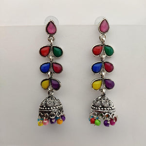 Multistonned Jhumka Earrings ES873 | Sunu's Fashions