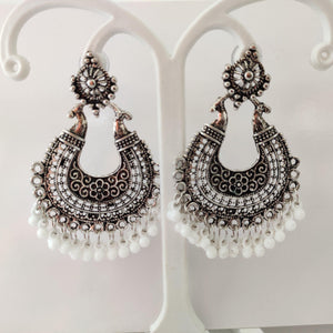 Oxidized Chandbali Earrings ES865 | Sunu's Fashions