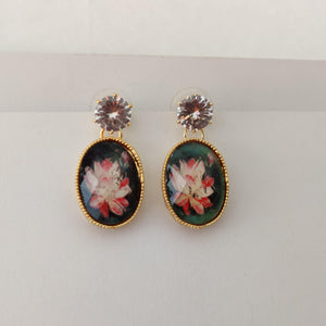 Floral Stone Drop Earrings ES867 | Sunu's Fashions