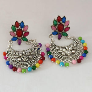 Multicolored Chandbali Earrings ES869 | Sunu's Fashions