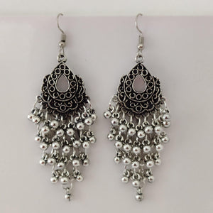 Multi Silver Loriyals Hanging Earrings ES871 | Sunu's Fashions