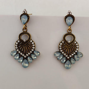 Skyblue Stone Statement Earrings ES872 | Sunu's Fashions