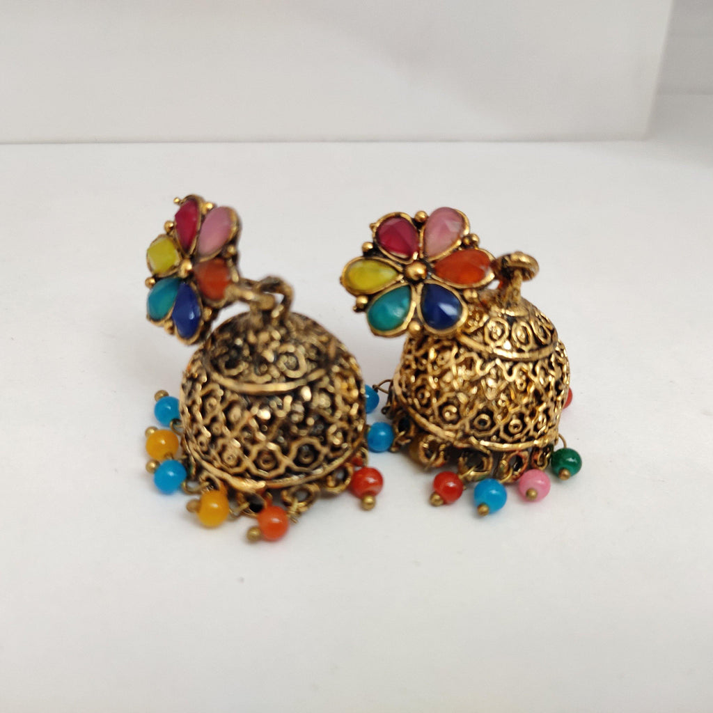 Floral Top Jhumka Earrings ES860 | Sunu's Fashions