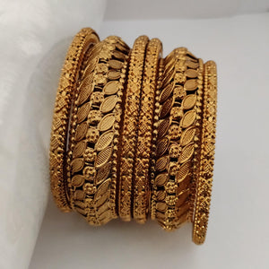 Antique Golden Bangle Set B91 | Sunu's Fashions