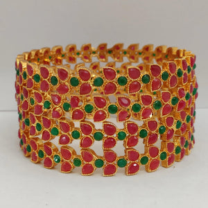Red and Green Stone Bangle Set B108 | Sunu's Fashions