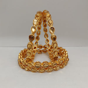 Golden Stone Bangle Set B107 | Sunu's Fashions