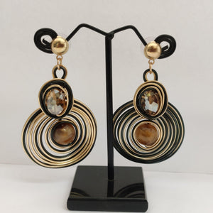 Black And Golden Wire Earrings ES880 | Sunu's Fashions