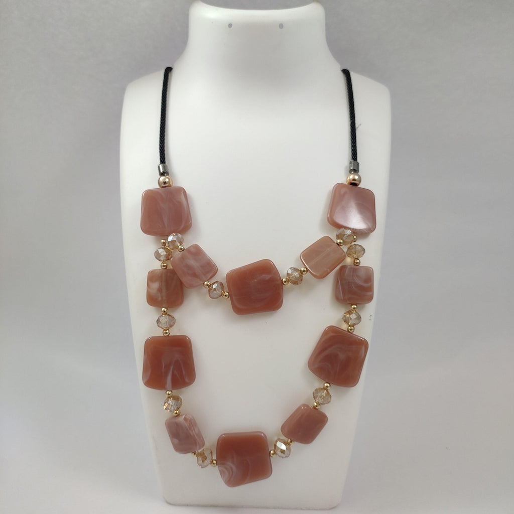 Stylish Agate Stone Layered Necklace NKC411 | Sunu's Fashions