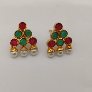 Triangle Kemp Stone Stud Earrings ES896 | Sunu's Fashions