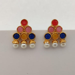 Triangle Kemp Stone Stud Earrings ES897 | Sunu's Fashions