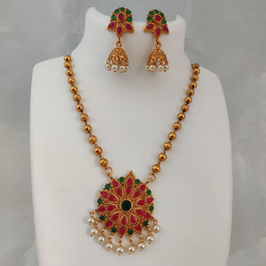 Floral Pendant Necklace NKC433 | Sunu's Fashions