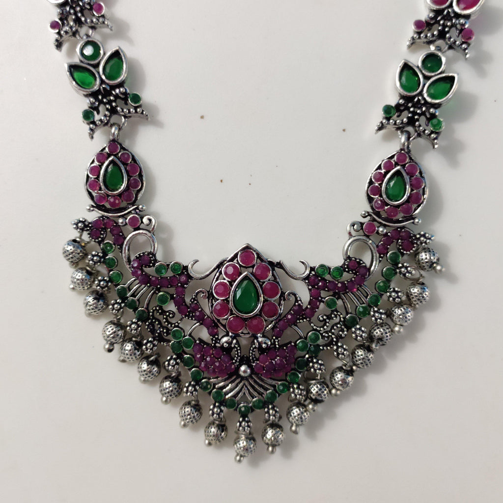 Traditional Oxidised Necklace NKC468 - Sunu's Fashions