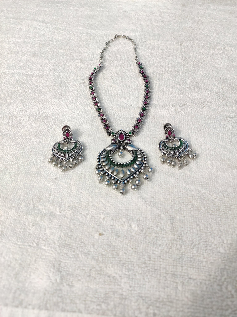 OXIDISED NECKLACE NKC467