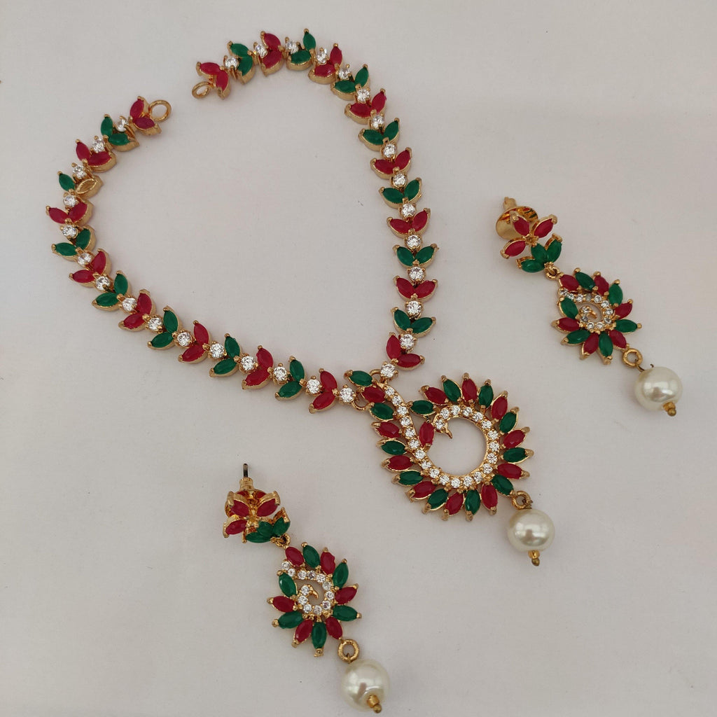 Charming AD Stone Necklace NKC490 - Sunu's Fashions