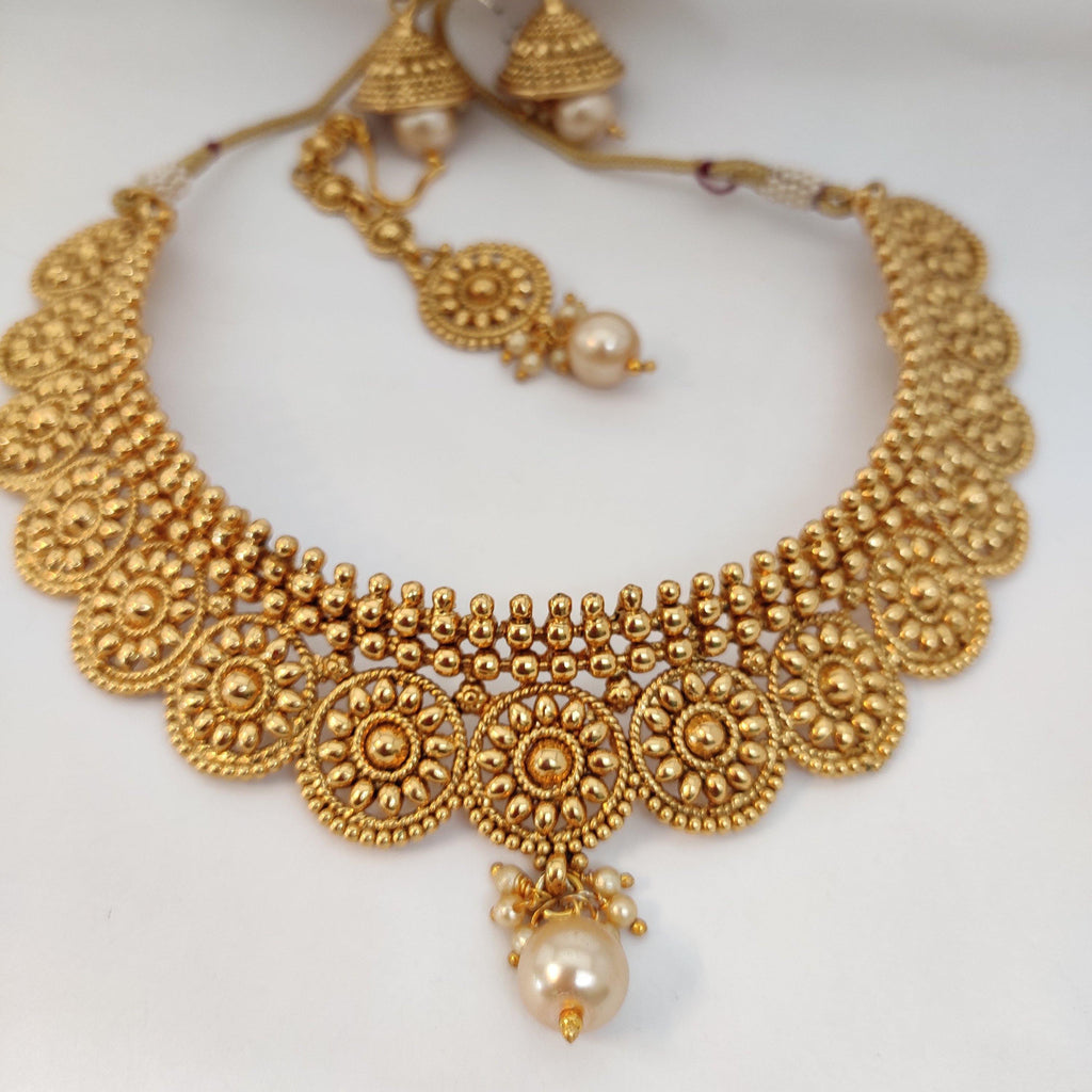 Antique Bridal Choker NKC152 | Sunu's Fashions