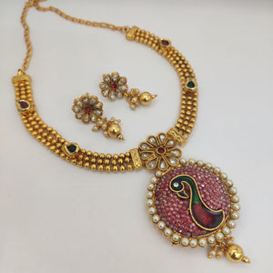 Antique Ruby Necklace NKC539 - Sunu's Fashions