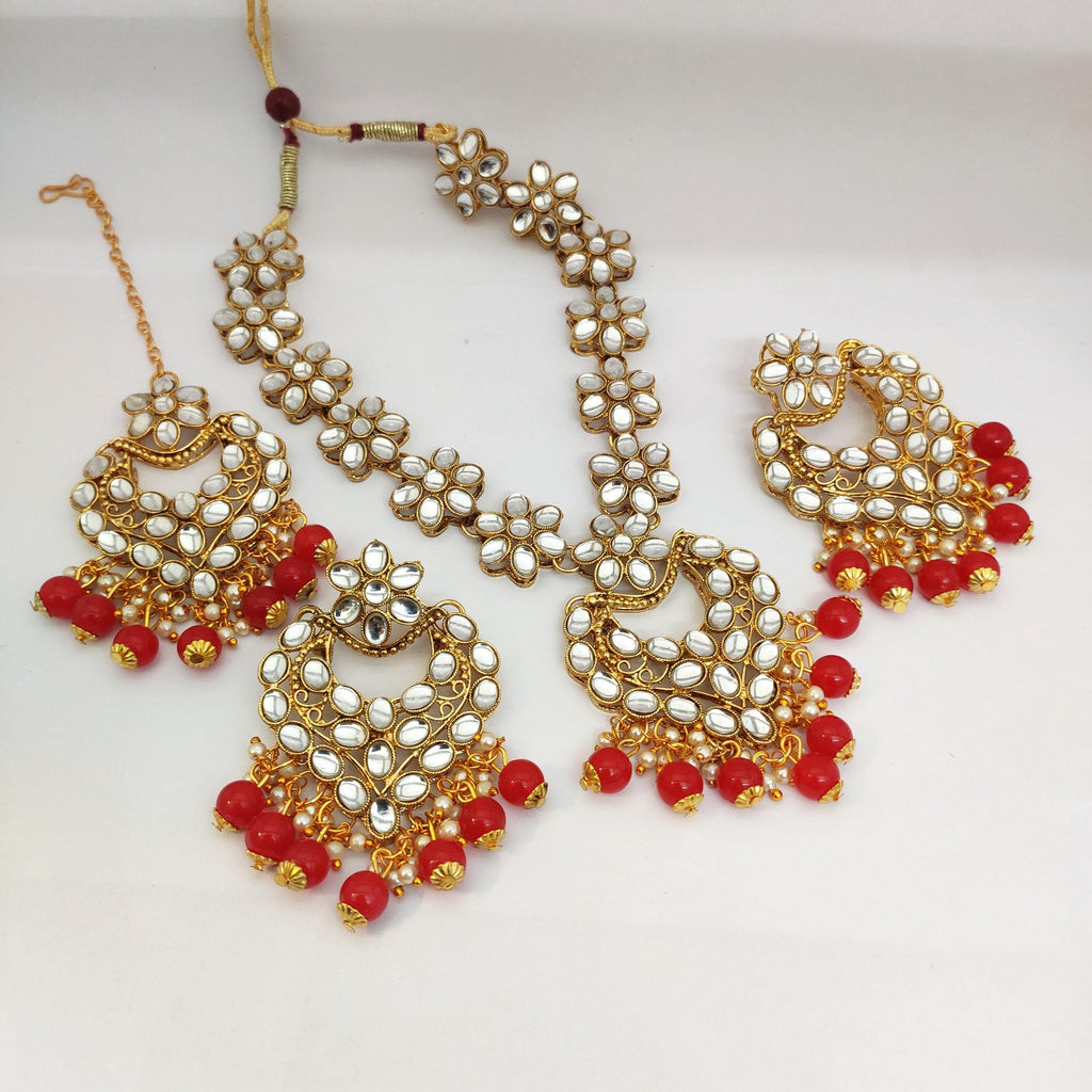 Kundan Stone Necklace NKC547 - Sunu's Fashions