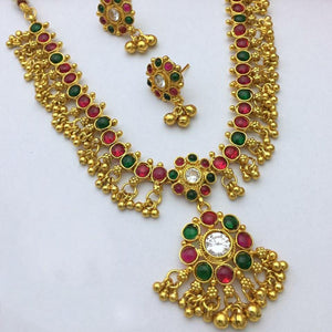 Multi stone necklace NKC582 - Sunu's Fashions