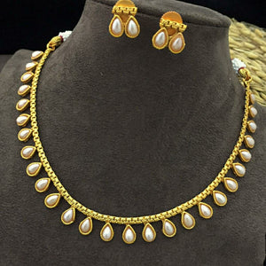 Matte pearl necklace NKC621