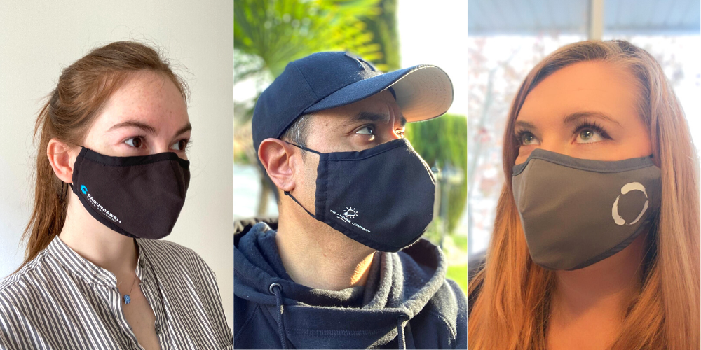 Company-branded Face Masks for Canada and USA