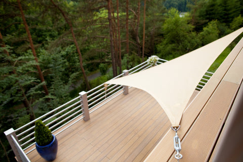 Shade sail canopy specialty fabric in Canada and USA