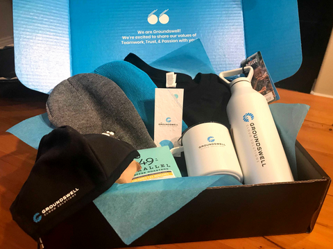 Groundswell Cloud Solutions care package for employees during COVID