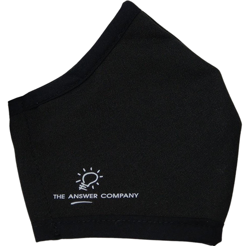 The Answer Company custom branded face mask