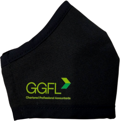 GGFL Chartered Professional Accountants custom branded reusable face mask Canada and USA