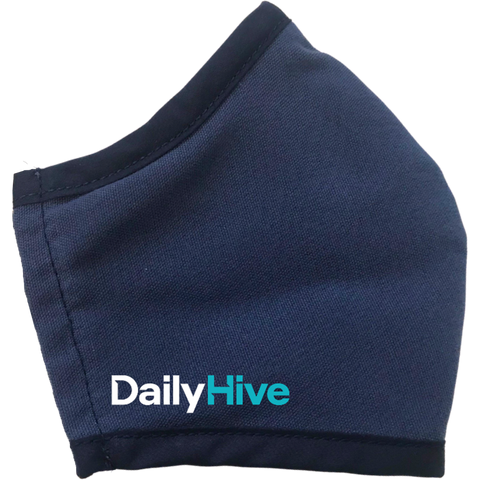 Daily Hive custom branded face mask