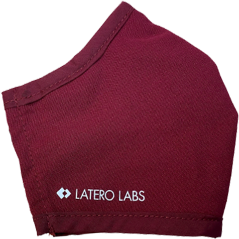Latero Labs custom branded face mask