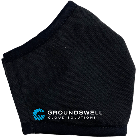 Groundswell Cloud Solutions custom branded face mask