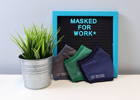 Masked For Work reusable and ethically-made face masks