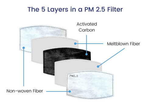 PM 2.5 filter for reusable face mask in Canada and USA