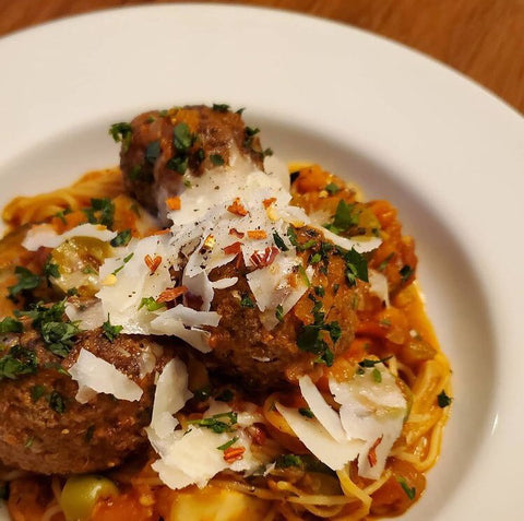 Social Crust Cafe Fresh from the Freezer meatballs