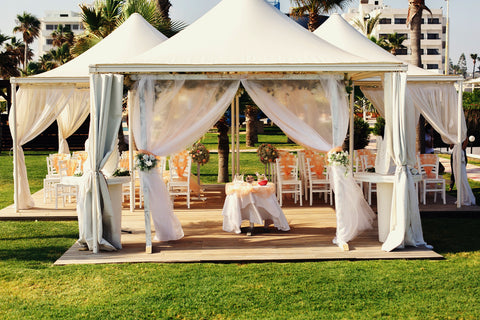 Wedding and event tent specialty fabric in Canada and USA
