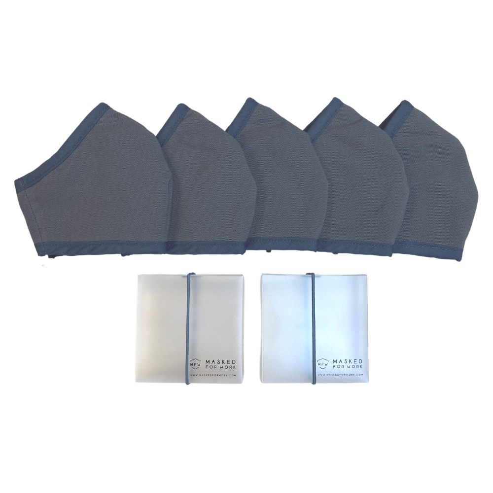 5-Pack Plain Masks: Kids and Teens ($75.00)