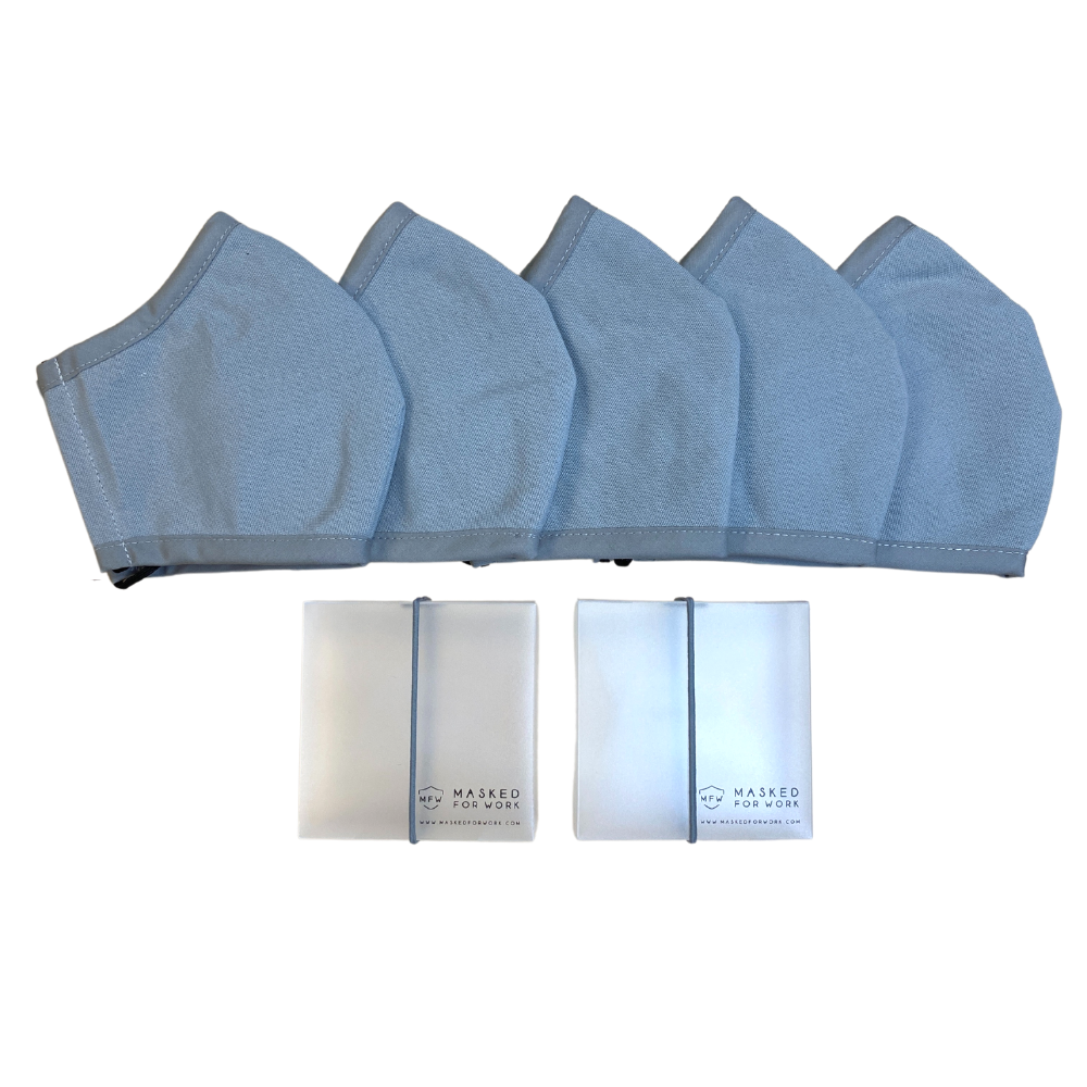 5-Pack Plain Masks: Kids and Teens