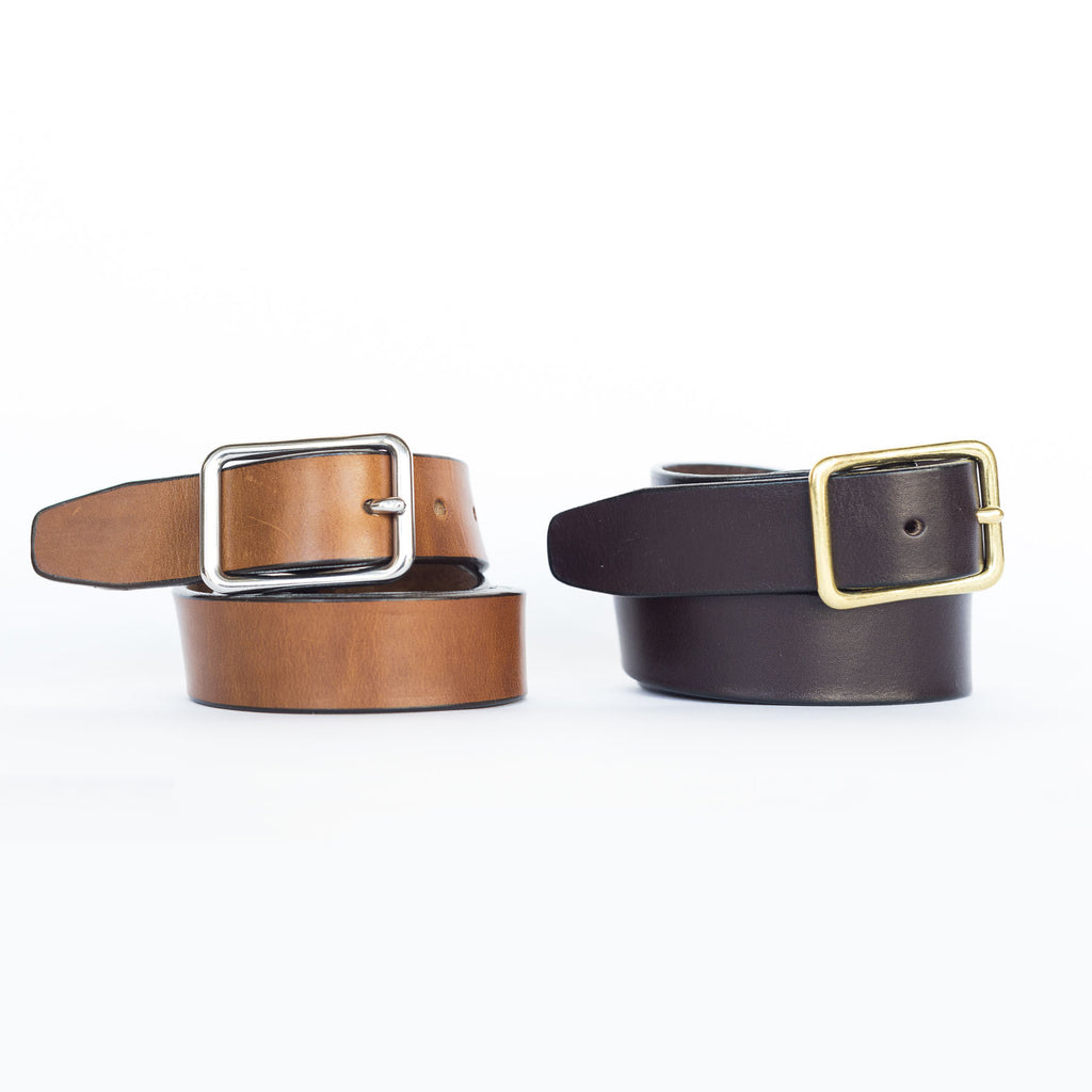 Standard Nickel Harness Leather Belt