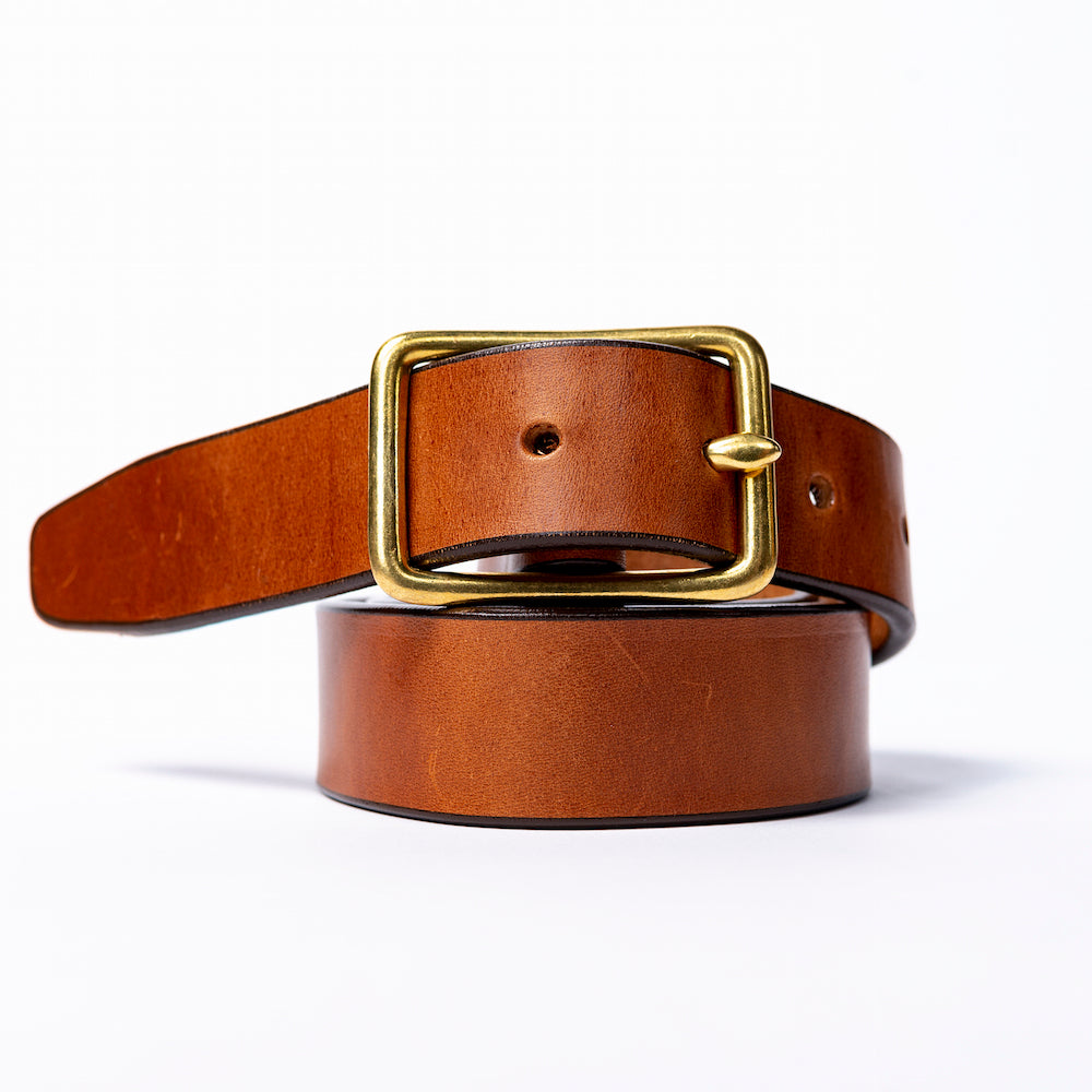 Standard Brass Harness Leather Belt
