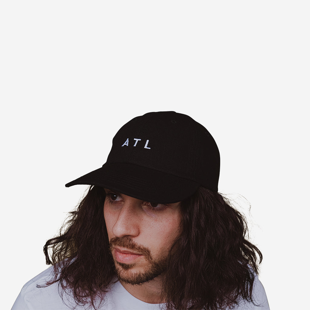 Black ATL Hat 6 Panel - City Design