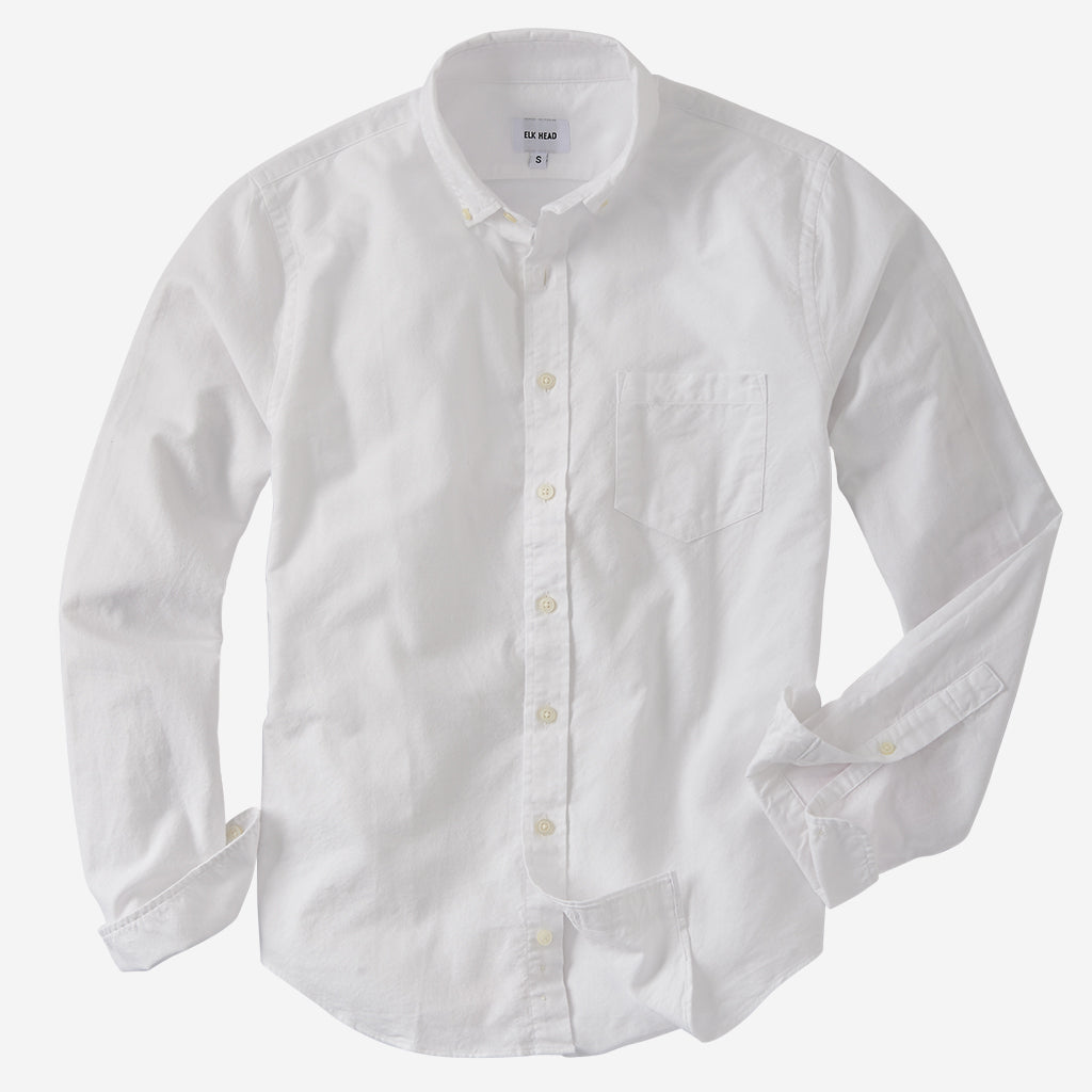 Brushed White Oxford
