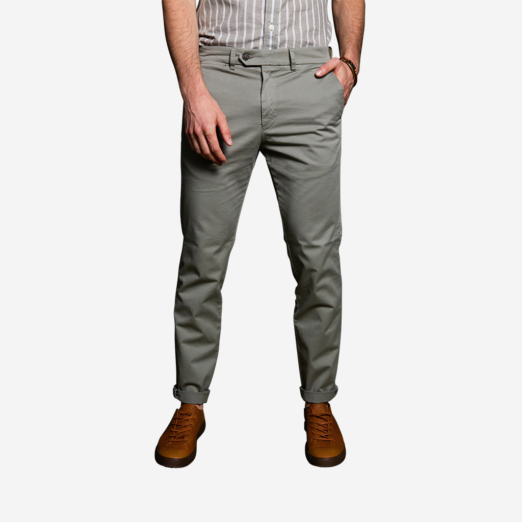 Premium Strech Chino - Light Olive