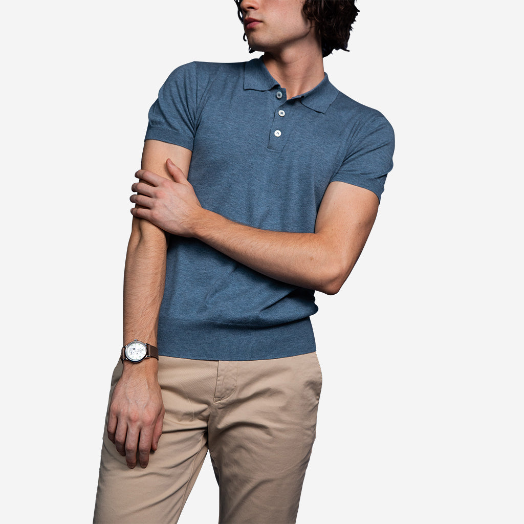 Superfine Merino Ocean Polo